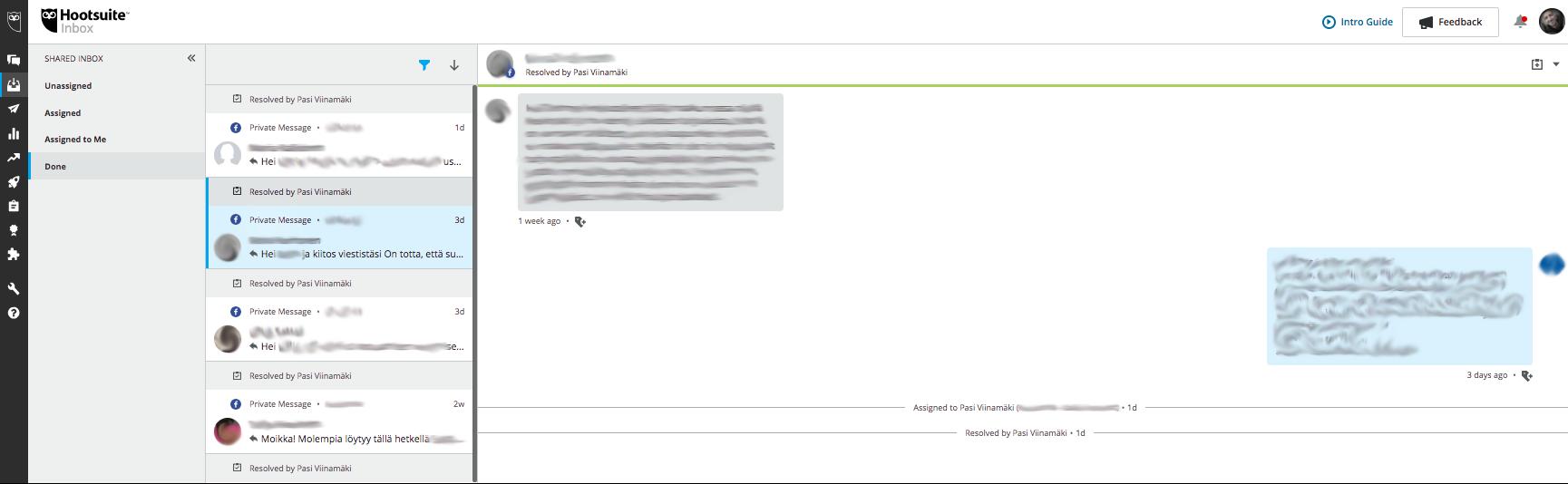 Hootsuite Inbox